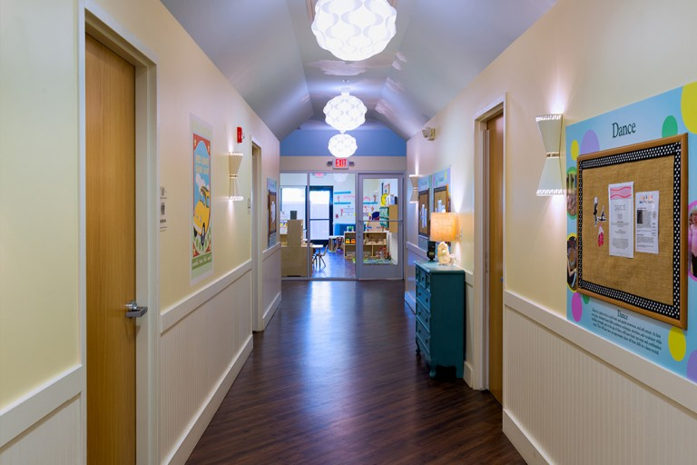 Hallway at daycare and preschool in Herndon